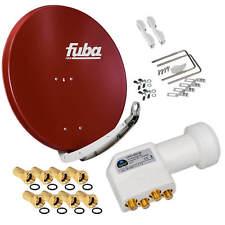 FUBA DAA850 Alu Schüssel SAT Antenne Spiegel 85cm + Premium Quad 4K HB LNB HD+