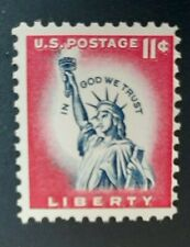 Scott #1044A 11cent Stamp Statue of Liberty, In God We Trust MNH 1961
