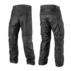 Motorradhose mit Protektoren Herren Textil Motorrad Roller Hose Sommer Schwarz