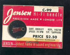 Jensen C-99 Crosley 145720 needle - 78 rpm Sapphire