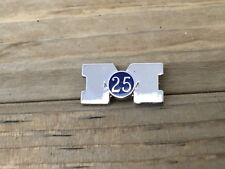 Vintage University Of Michigan 25 Year Pin LGB Sterling Silver Block M