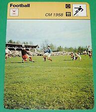 FOOTBALL COUPE DU MONDE 1958 EQUIPE DE FRANCE ROGER PIANTONI