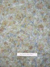 Christmas Batik Fabric - Northwoods 3 Snowflake Green Blue - Robert Kaufman YARD