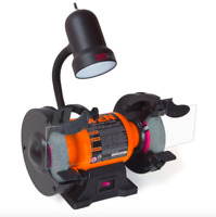 Wen 6 inch Bench Grinder Grinding Wheel Disc Grit Flexible Work Light Power Tool