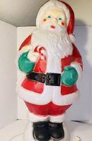 "Vintage Empire Christmas Blow Mold 30"" Santa Clause W/Candy Cane Yard Décor"
