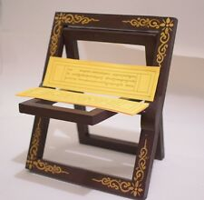 buddhist wooden prayer book stand