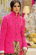 RARE Collectors Runway CHANEL BOMBAY Maharaja Fuchsia dress jacket coat 36 38 40