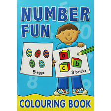 Number  Fun Colouring Book - blue cover
