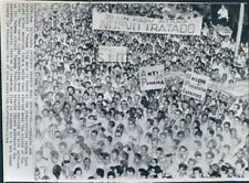1964 Wire Photo Panama Students In Protest Rally Outside Presidential Palace