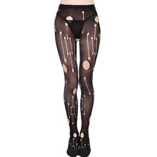 Ripped Hole High Thigh Pantyhose Long Stockings Fishnet Hosiery Tights
