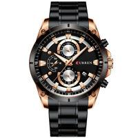 Curren Men Watch Business Multifuntional Waterproof Watches Quartz Watch S6P0