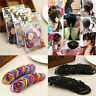 100pcs Elastic Rope Women Trendy Hair Ties Ponytail Holder Head Band Hairbands