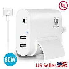 Macbook Pro Charger 60W T-Tip AC Power Adapter with 2 USB Ports + Base