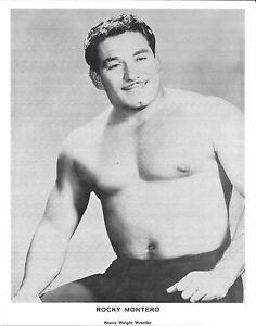 Rocky Montero Original Vintage 8x10 Photo WWE NWA 1960-70s Pro Wrestling Picture