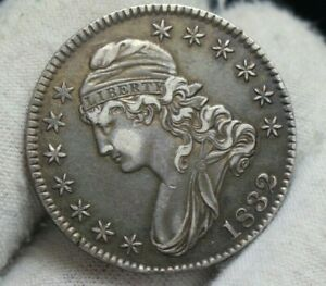1832 Capped Bust Half Dollar, Early Date Silver 50c Coin