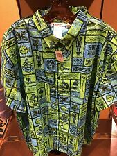 Disney Polynesian Trader Sams Grog Grotto Enchanted Tiki Room Hawaiian Shirt XXL