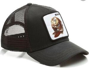 GOORIN BROS Trucker Cap Baseball Cap BEAVER Black One Size RRP £35 NEW