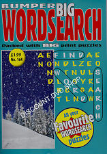 Bumper Big Wordsearch Puzzle Book.Vol 164/B5.All your favourite Puzzles New Item
