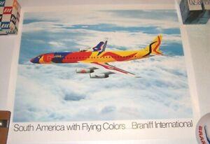 Braniff International Calder DC-8 Poster