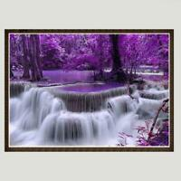Waterfall 5D DIY Full Drill Diamond Painting Embroidery Mosaic Cross Stitch DD