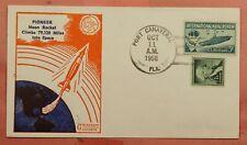 1958 PIONEER MOON ROCKET LAUNCH PORT CANAVERAL FL GOLDCRAFT CACHET