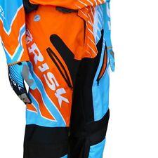 Risk Racing VENTilate motocross Size: 34 Pants - Blue/Orange MX RACE GEAR