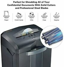 Commercial Paper Shredder Industrial 6 - 18 Sheet Cross Cut Heavy Duty Office CD