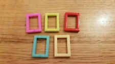 Dolls house 5 modern photo frames 1:24th scale picture miniature UK SELLER