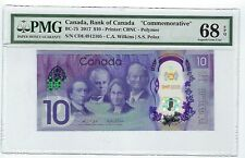 Canada, 2017 10 Dollars BC-75 PMG 68 EPQ Tough Prefix CDE