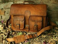 Vintage Leather DSLR Camera Bag Padded Briefcase Macbook Satchel Messenger bag