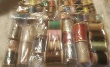 LOT 57 OLD WOODEN  SEWING THREAD SPOOLS