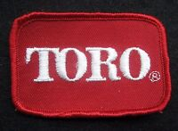 """TORO EMBROIDERED SEW ON ONLY PATCH FARM LAWN GROUND EQUIPMENT UNIFORM 3"""" x 2"""""""