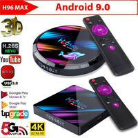 H96 Max Android 9.0 Smart TV Box Quad Core 4K HD WiFi Media Player Streamer