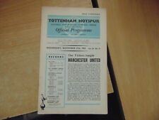 UEFA CUP WINNERS CUP 1963/4 Tottenham Hotspur/Manchester United