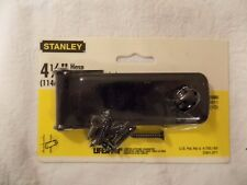 "Stanley LifeSpan Hasp, Black Finish, 4.5"" (114 mm) 75-4580 *NEW Corrugated Leaf"
