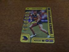 2018 AFL TEAMCOACH BRAD CROUCH GOLD CARD #69