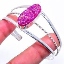 Titanium Druzy Gemstone Handmade Fashion Jewelry Cuff Bracelet Adst. SC-226