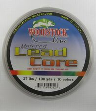 Woodstock Line Metered Lead Core Fishing Line 27# Test 100 Yards 10 Colors