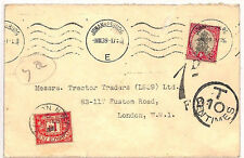ZZ72 1939 Johannesburg South Africa to London/Postage dues {samwells-covers}