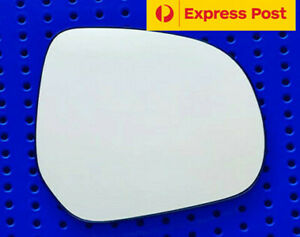 Right mirror glass to suit OPEL AGILA 2008 onward Heated Convex with base