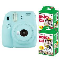 Fujifilm instax mini 9 Ice Blue Instant Film Camera + 40 Prints Mini Film