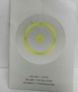 Xbox 360 Manual Setup Installation Configuration Book