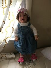 "Reborn Biracial Toddler doll ""Timone"" by Jannie De Lang 26 inches"