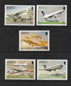 1987 JERSEY 50th Anniversary Jersey Airport Set MNH (SG 409-413)