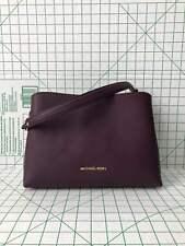 Michael Kors Sofia Large EW Leather Satchel Crossbody Bag In Damson Purple