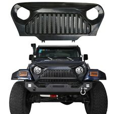 Upgraded Angry Bird Front Matte Mesh Grill Grille For Jeep Wrangle 1997-2006 TJ