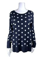 OLD NAVY POLKA DOT BLUE NAVY SWEATER WOMENS SIZE L