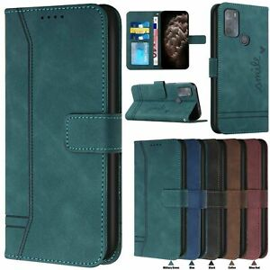 For Moto G9 E7 Sony 10 5 iii Nokia C3 Retro Leather Wallet Stand Card Case Cover