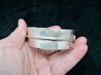 Vintage Silver Tone Circa 1975 Artisan Cuff Bracelet AS IS