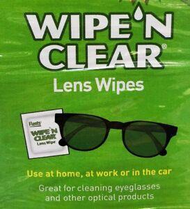 Flents Wipe 'N Clear Pre-moistened Lens Wipes Glasses Optical lens wipe 75/150/